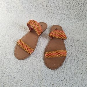 Lucky Brand Sandals Slides Woven Women's 10M